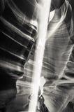 Ελαφριά ακτίνα στο φαράγγι αντιλοπών Στοκ Φωτογραφία