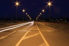 Ελαφριά γραμμή και η γέφυρα Johanniter στη Βασιλεία Στοκ Φωτογραφίες
