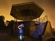 Ελαφριά ζωγραφική νύχτας Στοκ φωτογραφία με δικαίωμα ελεύθερης χρήσης