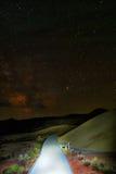 Ελαφριά ζωγραφική στους χρωματισμένους λόφους Στοκ φωτογραφία με δικαίωμα ελεύθερης χρήσης