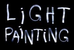 Ελαφριά ζωγραφική Στοκ φωτογραφίες με δικαίωμα ελεύθερης χρήσης
