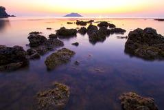 Ελαφριά θάλασσα λυκόφατος στοκ εικόνα