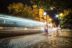 Ελαφριά κυκλοφορία νύχτας Στοκ Εικόνα