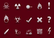 Ελαφριά κλίση σημαδιών κινδύνου Στοκ εικόνα με δικαίωμα ελεύθερης χρήσης