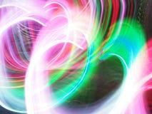 Ελαφριά μορφή καρδιών κινήσεων στο σκοτεινό υπόβαθρο Στοκ Εικόνες