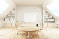Ελαφριά ξύλινη αίθουσα συνδιαλέξεων διανυσματική απεικόνιση