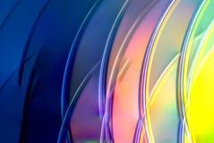 Ελαφριά ομορφιά χρωμάτων ουράνιων τόξων των CD τέχνης στοκ εικόνα με δικαίωμα ελεύθερης χρήσης