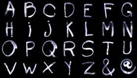 Ελαφριά πλήρη αλφάβητα ζωγραφικής από το Α στο Ω Στοκ εικόνα με δικαίωμα ελεύθερης χρήσης