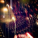 Ελαφριά φωτογραφία ζωγραφικής Φωτογραφία νύχτας με το αναδρομικό φίλτρο Στοκ φωτογραφία με δικαίωμα ελεύθερης χρήσης