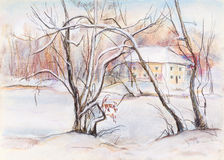 Ελαφριά χειμερινή ημέρα Στοκ εικόνα με δικαίωμα ελεύθερης χρήσης