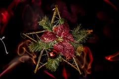 Ελαφριά Χριστούγεννα ζωγραφικής Στοκ Εικόνα