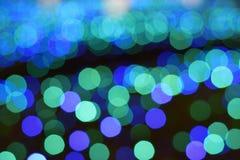 Ελαφριές θαμπάδες των μπλε οδηγήσεων χειμερινού φωτισμού στην Ιαπωνία στοκ φωτογραφίες