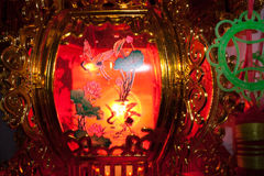 Ελαφριές διακοπές νύχτας λαμπτήρων φαναριών Στοκ Εικόνα