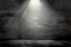 Ελαφρύς λαμπτήρας grunge τοίχων συγκεκριμένος στη τοπ σύσταση υποβάθρου Στοκ φωτογραφία με δικαίωμα ελεύθερης χρήσης