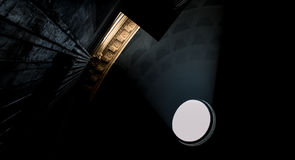 Ελαφρύς ερχομός μέσω του ανώτατου ορίου Pantheon Στοκ φωτογραφία με δικαίωμα ελεύθερης χρήσης