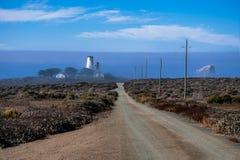 Ελαφρύς σταθμός Piedras Blancas σημείου (σπίτι) Στοκ Εικόνες