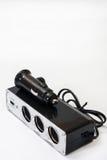 Ελαφρύτερη υποδοχή USB και τσιγάρων για το αυτοκίνητο Στοκ φωτογραφία με δικαίωμα ελεύθερης χρήσης