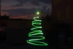 ελαφρύ δέντρο Χριστουγέννων Στοκ Φωτογραφία