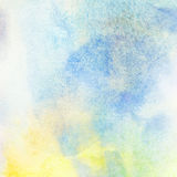 Ελαφρύ αφηρημένο ζωηρόχρωμο χρωματισμένο υπόβαθρο παφλασμών watercolor Στοκ Εικόνες