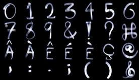 Ελαφρύ αλφάβητο αριθμού ζωγραφικής Στοκ φωτογραφίες με δικαίωμα ελεύθερης χρήσης