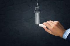 ελαφρύ διάνυσμα απεικόνισης ιδέας έννοιας βολβών Στοκ φωτογραφίες με δικαίωμα ελεύθερης χρήσης