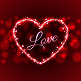 Ελαφρύ διάνυσμα απεικόνισης καλωδίων καρτών αγάπης βαλεντίνων Στοκ φωτογραφία με δικαίωμα ελεύθερης χρήσης