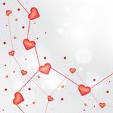 Ελαφρύ διανυσματικό υπόβαθρο βαλεντίνων καρδιών Στοκ Εικόνες