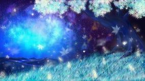 ελαφρύ μαγικό ηλιοβασίλεμα ήλιων ουρανού τοπίων φαντασίας πουλιών στοκ εικόνες