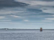 Ελαφρύ παλαιό αναγνωριστικό σήμα Larick σωρών Tayport Στοκ φωτογραφίες με δικαίωμα ελεύθερης χρήσης