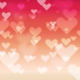Ελαφρύ υπόβαθρο καρδιών bokeh Στοκ εικόνες με δικαίωμα ελεύθερης χρήσης