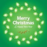 Ελαφρύ υπόβαθρο Χριστουγέννων διακοσμήσεων ελεύθερη απεικόνιση δικαιώματος
