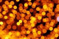 Ελαφρύ φως Χριστουγέννων στα θερμά χρώματα - bokeh Στοκ φωτογραφίες με δικαίωμα ελεύθερης χρήσης