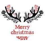 Ελαφόκερες Χριστουγέννων Στοκ φωτογραφία με δικαίωμα ελεύθερης χρήσης