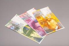 Ελβετικά φράγκα, νόμισμα της Ελβετίας Στοκ φωτογραφία με δικαίωμα ελεύθερης χρήσης