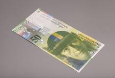 50 ελβετικά φράγκα, νόμισμα της Ελβετίας Στοκ Φωτογραφία