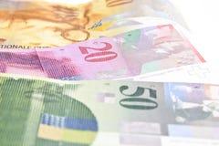 Ελβετικά φράγκα Στοκ Φωτογραφίες