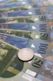 2 ελβετικά φράγκα Στοκ Εικόνες