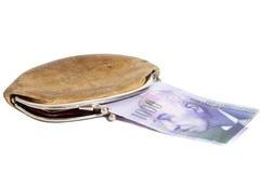 Ελβετικά χίλια φράγκα στο πορτοφόλι Στοκ εικόνα με δικαίωμα ελεύθερης χρήσης