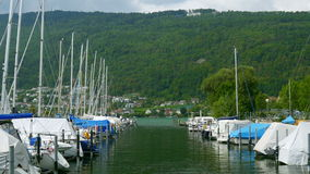 ελβετική άποψη λιμνών σχετικά με το βουνό ορών, Ελβετία απόθεμα βίντεο