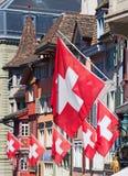 Ελβετική εθνική μέρα στη Ζυρίχη Στοκ Εικόνες
