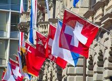 Ελβετική εθνική μέρα στη Ζυρίχη Στοκ φωτογραφία με δικαίωμα ελεύθερης χρήσης