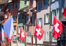 Ελβετική εθνική μέρα στη Ζυρίχη Στοκ Φωτογραφία
