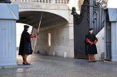 Ελβετική φρουρά Βατικάνου Στοκ Εικόνες