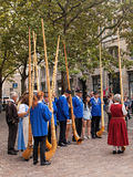 Ελβετικοί συμμετέχοντες παρελάσεων εθνικής μέρας Στοκ φωτογραφίες με δικαίωμα ελεύθερης χρήσης