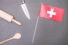 Ελβετικό μαγείρεμα Στοκ εικόνες με δικαίωμα ελεύθερης χρήσης