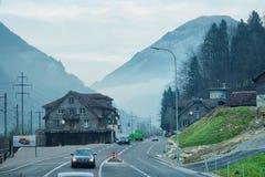 Ελβετικό οδικό ταξίδι Στοκ Εικόνα