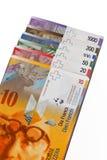 Ελβετικό φράγκο, νόμισμα της Ελβετίας Στοκ Εικόνες