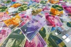 Ελβετικό φράγκο Στοκ Εικόνα