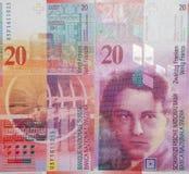 Ελβετικό φράγκο στοκ φωτογραφία
