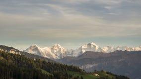 Ελβετικό χρονικό σφάλμα βουνών απόθεμα βίντεο